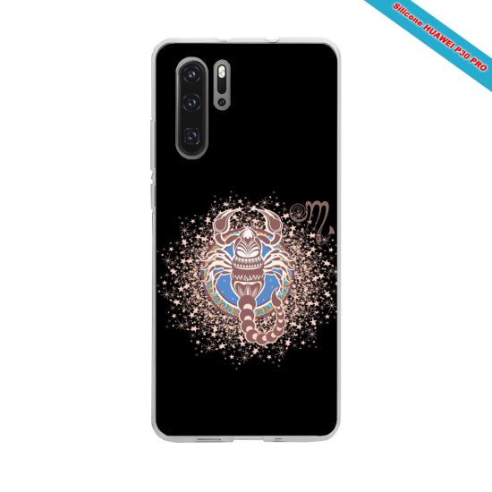 Coque silicone Huawei P20 LITE 2019 Hibiscus rouge