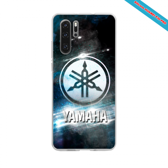 Coque silicone Huawei P30 Hibiscus rouge