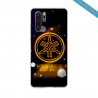 Coque silicone Huawei P40 Hibiscus rouge