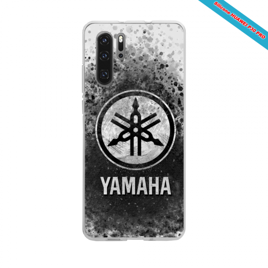 Coque silicone Huawei P40 Lite Hibiscus rouge
