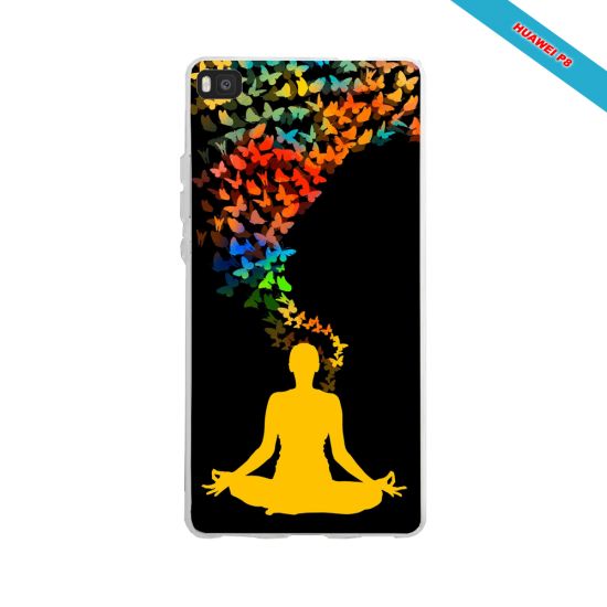 Coque silicone Huawei Mate 10 Hibiscus bleu