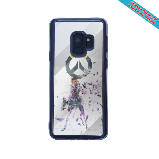Coque silicone Iphone 12 Mini Fan d'Overwatch Sigma super hero