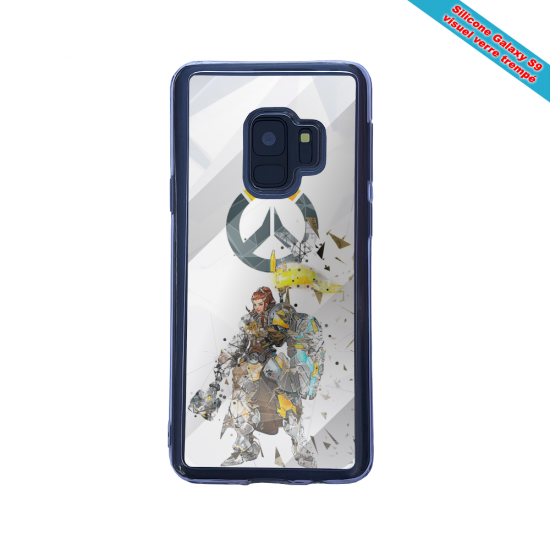 Coque silicone Iphone 12 Mini Fan d'Overwatch Soldat 76 super hero
