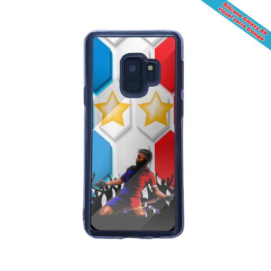 Coque silicone Iphone 12 Mini Hibiscus rouge