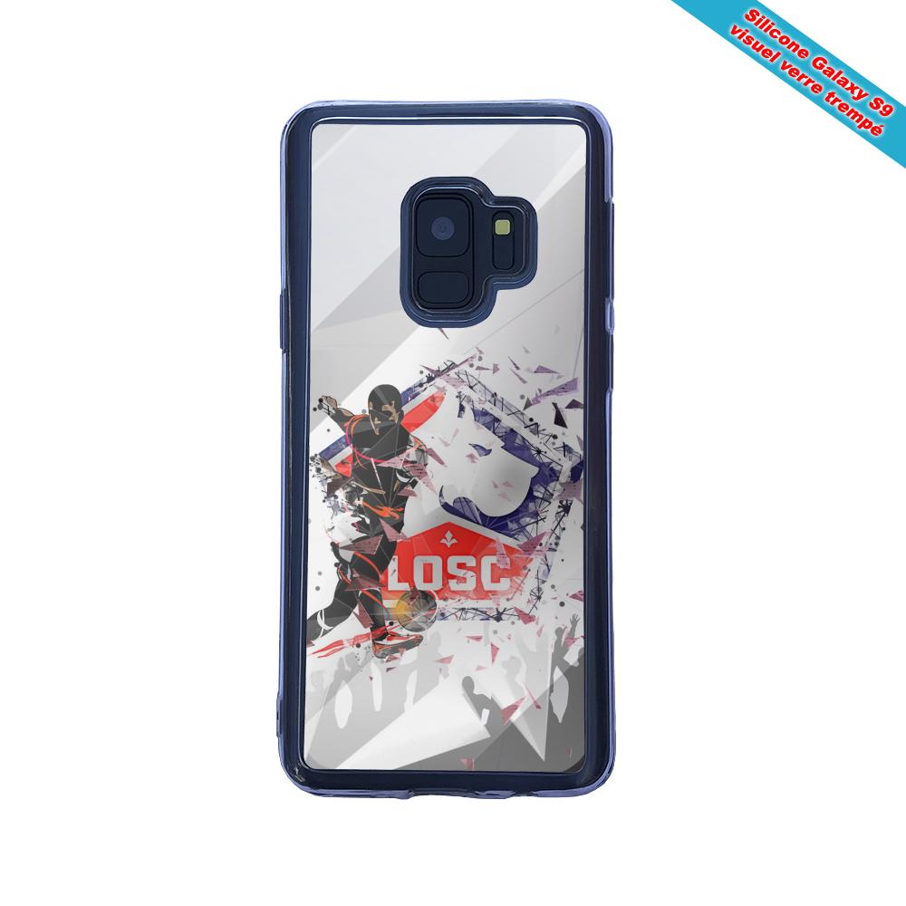Coque silicone Iphone 12 Mini Fan de Ligue 1 St-etienne ASSE geometric