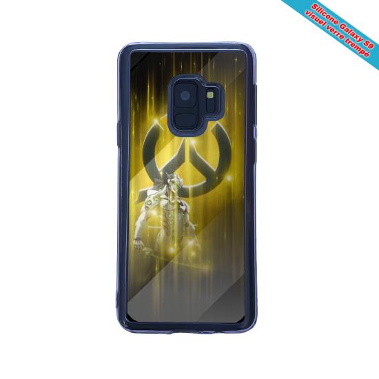 Coque silicone Iphone 12 Mini Fan d'Overwatch Bastion super hero