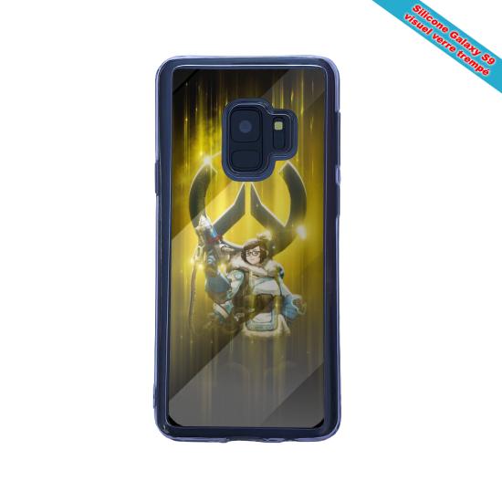 Coque silicone Iphone 12 Mini Fan d'Overwatch Orisa super hero