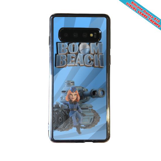Coque silicone Iphone 12 Fan de Ligue 1 Nimes cosmic