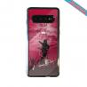 Coque silicone Iphone 12 Hibiscus bleu
