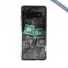 Coque silicone Iphone 12 Hibiscus rouge