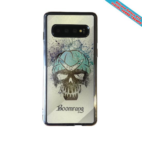 Coque silicone Iphone 12 PRO Hibiscus bleu