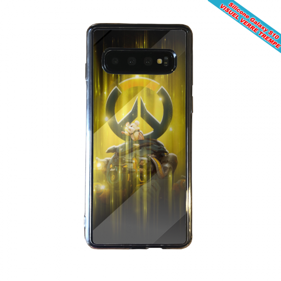 Coque silicone Iphone 12 PRO Fan d'Overwatch Sigma super hero