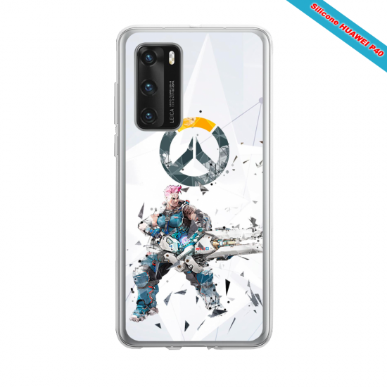 Coque silicone Huawei MATE 10 LITE Fan d'Overwatch Mei super hero