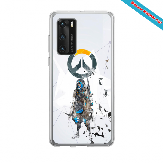 Coque silicone Huawei MATE 10 LITE Fan d'Overwatch Orisa super hero