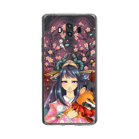 Coque silicone Huawei MATE 10 PRO Yoga Papillon