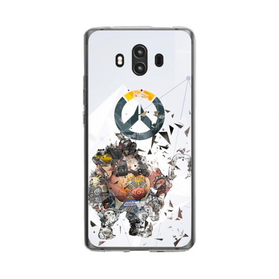 Coque silicone Huawei MATE 10 PRO Fan d'Overwatch Reinhardt super hero