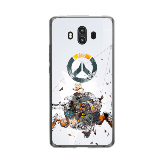 Coque silicone Huawei MATE 10 PRO Fan d'Overwatch Chacal super hero