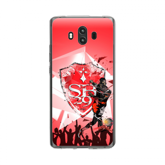Coque silicone Huawei MATE 10 PRO Fan de Ligue 1 Toulouse splatter