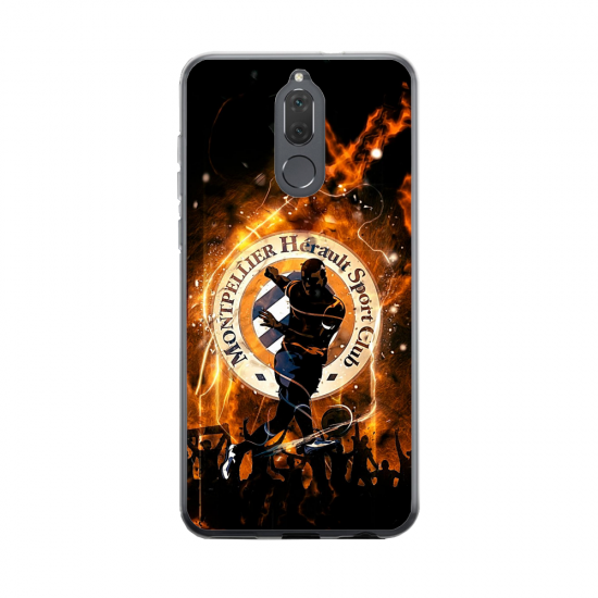 Coque silicone Huawei Mate 20 Hibiscus rouge