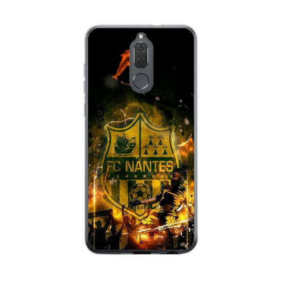 Coque silicone Huawei Mate 20 Hibiscus bleu