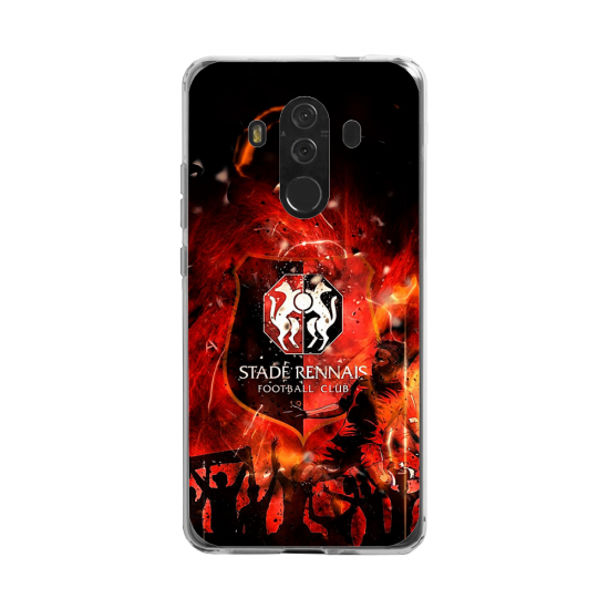 Coque silicone Huawei Mate 20 LITE Hibiscus rouge