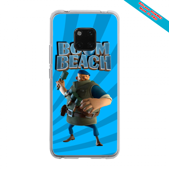 Coque silicone Huawei P40 Pro Papillon de nuit mandala