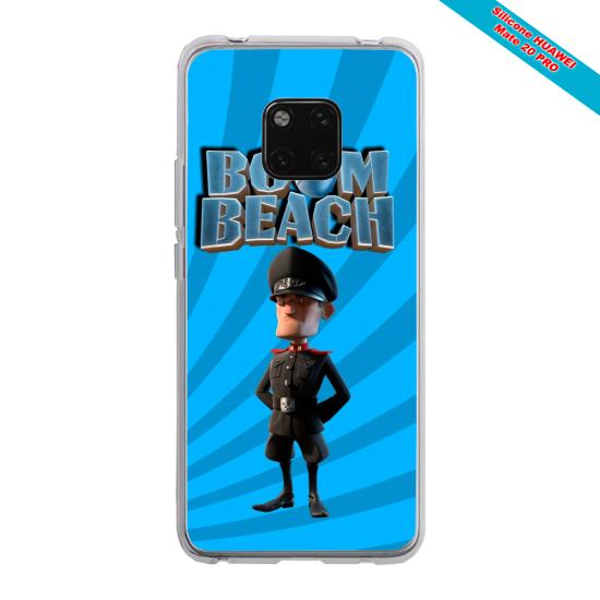 Coque silicone Huawei P40 Papillon de nuit mandala