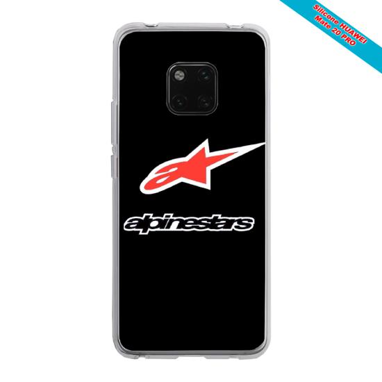 Coque silicone Huawei P20 LITE 2019 Papillon de nuit mandala