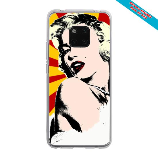 Coque silicone Huawei P20 LITE Papillon de nuit mandala