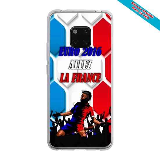 Coque silicone Huawei P9 Papillon de nuit mandala