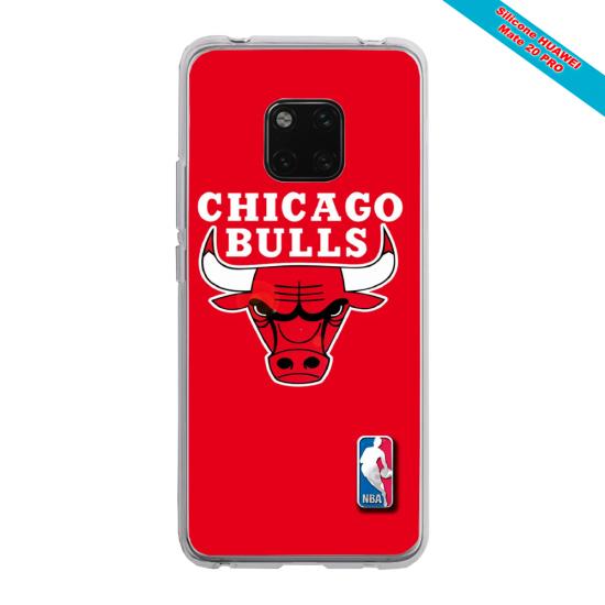 Coque silicone Huawei Mate 20 LITE Papillon de nuit mandala
