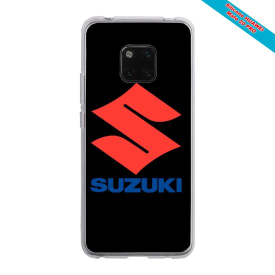 Coque silicone Huawei Mate 20 Papillon de nuit mandala