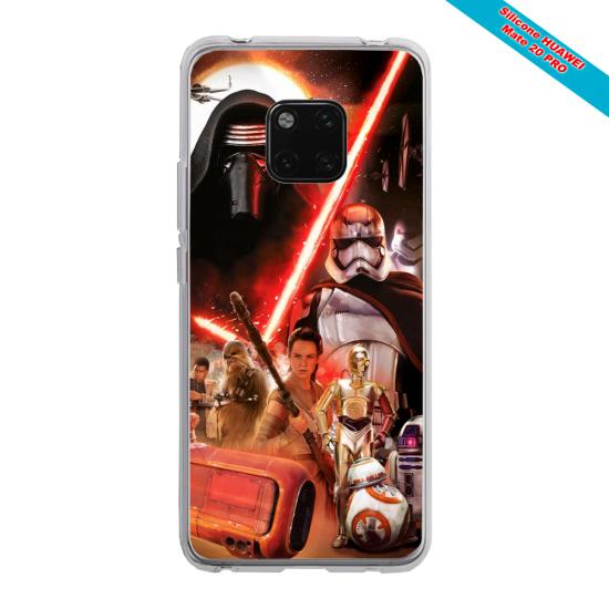 Coque silicone Huawei Mate 10 Papillon de nuit mandala
