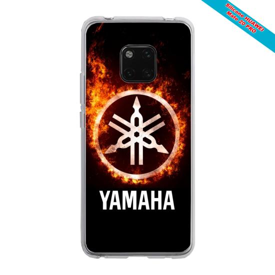 Coque Silicone Galaxy S10E verre trempé Papillon de nuit mandala