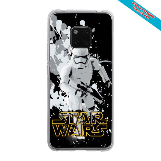 Coque Silicone Galaxy S9 PLUS verre trempé Papillon de nuit mandala