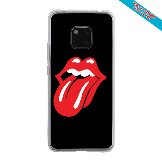Coque Silicone Galaxy S9 verre trempé Papillon de nuit mandala