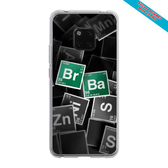 Coque silicone Galaxy J7 2018 Papillon de nuit mandala