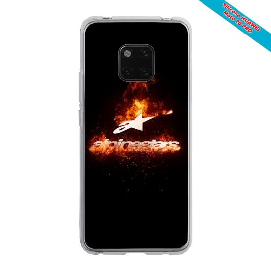 Coque silicone Galaxy J6 PLUS Papillon de nuit mandala