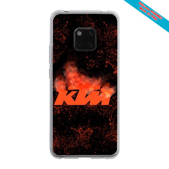 Coque silicone Galaxy J4 CORE Papillon de nuit mandala