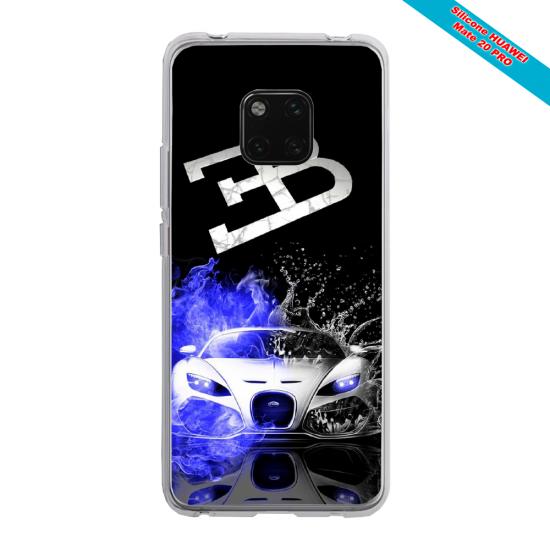 Coque silicone Galaxy J4 2018 Papillon de nuit mandala