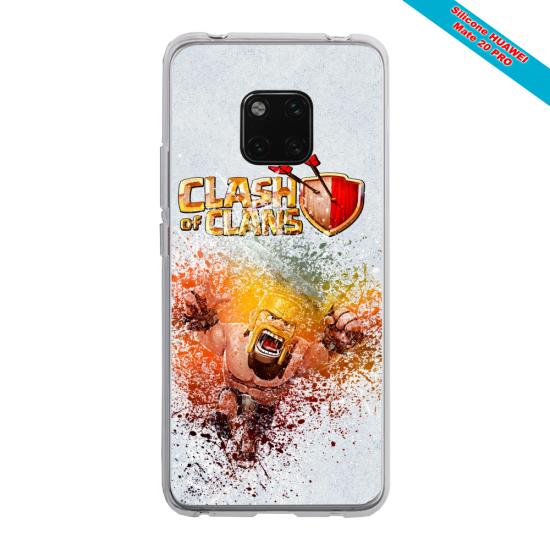 Coque silicone Galaxy A71 Papillon de nuit mandala