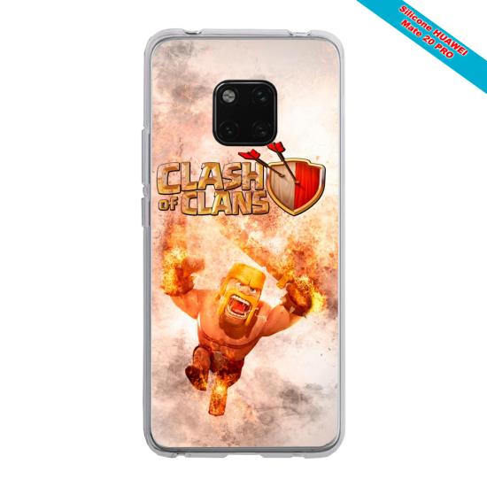 Coque silicone Galaxy A70 Papillon de nuit mandala