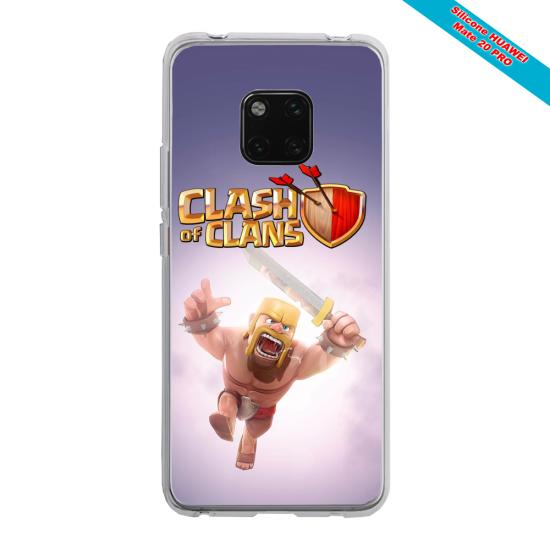 Coque silicone Galaxy A51 Papillon de nuit mandala