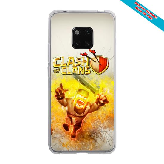Coque silicone Galaxy A50 Papillon de nuit mandala