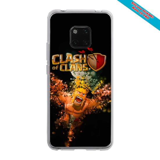 Coque silicone Galaxy A40 Papillon de nuit mandala