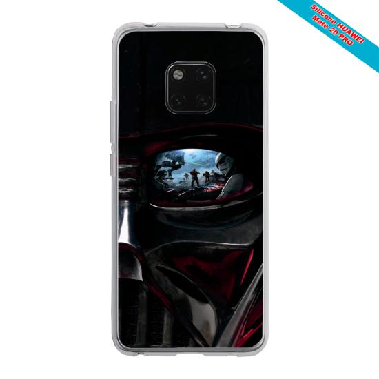 Coque silicone Galaxy A10 Papillon de nuit mandala