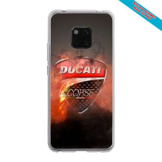 Coque silicone Iphone 12 PRO Papillon de nuit mandala