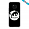 Coque silicone Iphone 12 Papillon de nuit mandala