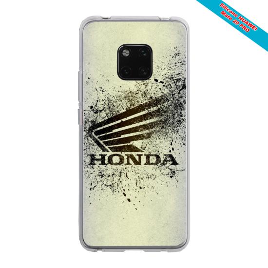Coque silicone Iphone SE 2020 verre trempé Papillon de nuit mandala
