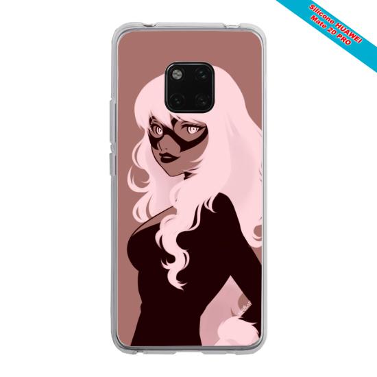 Coque silicone Iphone SE 2020 Papillon de nuit mandala
